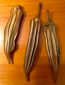 Dry okra capsules