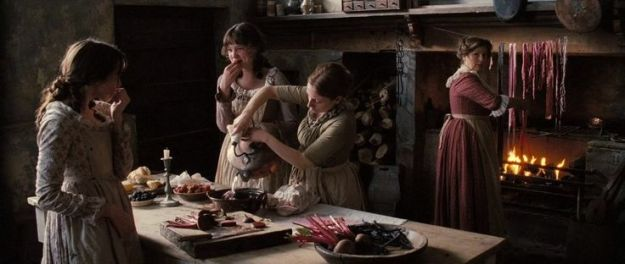 (scene from Pride and Prejudice of dying ribbons with beets: https://www.pinterest.com/pin/374150681515259286/)