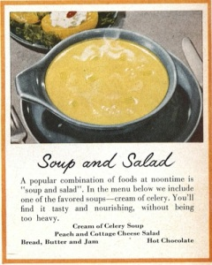 Portion of an advertisement from 1951 for Campbells soup